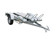 Trailer for transportaion of 1,  2 or 3 motorbikes